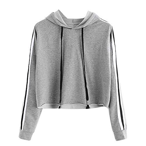 Sweatshirt Femme Imprimé,◕‿◕LianMengMVP Aux Femmes Pull rayé Sweat à Capuche à Manches Longues Pull à Capuche Tops Chemisier