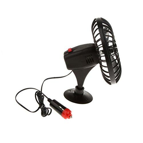 Generic STK0152000845 Véhicule De Camion De Voiture Mini Ventilateur De Refroidissement Avec Prise Allume-Cigare 12V Alimenté