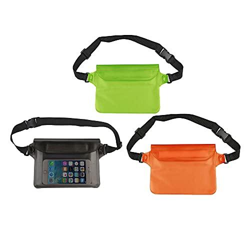 Bolsa impermeable – Riñonera impermeable con correa de cintura ajustable, bolsillo impermeable IPX8 para teléfono móvil, mantiene tu teléfono y objetos de valor secos