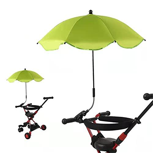 Paraguas mini a prueba de viento, paraguas de viaje compacto plegable invertido paraguas UV pequeño paraguas recto paraguas para, verde (Verde) - xqkj-WZOZMD-3