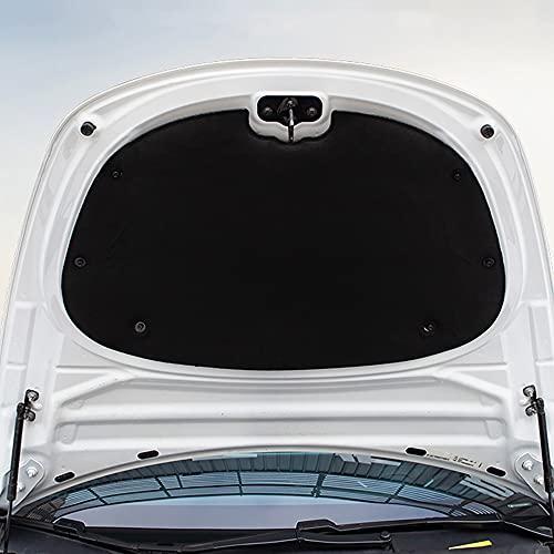 LOPLP Estera de reducción de Ruido del capó del Motor Delantero del Coche Almohadilla de algodón insonorizada Cubierta Protectora de amortiguación Pegatina para Tesla Model 3 2017-2021