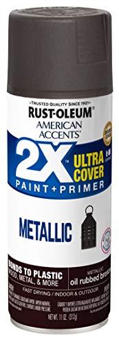 Rust-Oleum 327906-6PK American Accents Spray Paint, 6 Pack, Metallic Oil Rubbed Bronze