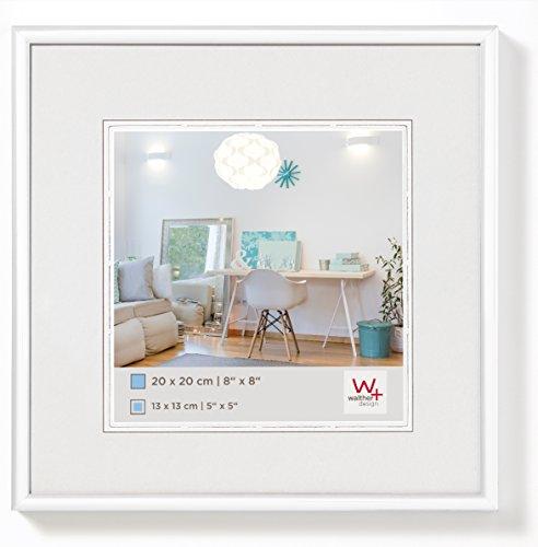 walther design KV150W New Lifestyle Kunststoffrahmen, 15 x 15 cm, Weiß