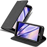 Cadorabo Hülle für LG X Power - Hülle in Nacht SCHWARZ – Handyhülle mit Magnetverschluss, Standfunktion & Kartenfach - Hülle Cover Schutzhülle Etui Tasche Book Klapp Style