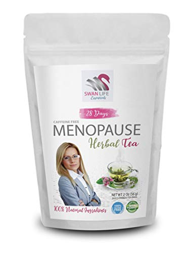 herbal tea for menopause - caffeine free - Hormonal Balance + Hot Flashes – 28 Days MENOPAUSE herbal tea - by SWAN LIFE ESSENTIALS