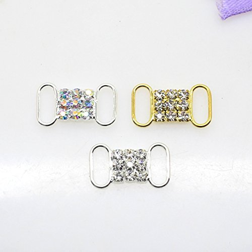 50 20 mm x 10 mm strass Boucle coulissant pour mariage Invitation Lettre