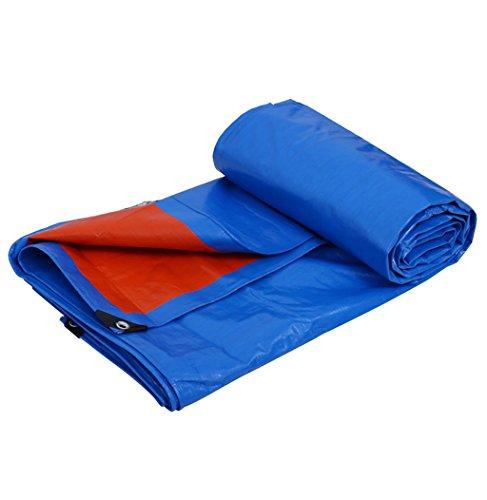 LEGOUGOU Blau + Orange Plane Plane Sonnenschutz Tuch Polyethylen Poncho Familie Camping Garten Im Freien Poncho, Dicke 0,35 Mm, 180 G / M2, 8 Größenoptionen (größe : 6 * 4)