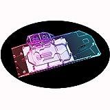 Bykski GPU Waterblock Water Cooler Copper GPU Liquid Cooling Block Liquid Cooler Graphic Cards GPU Block Backplate for Gigabyte Radeon RX 6800 XT Gaming OC (12V 4-Pin RGB LED Lights)