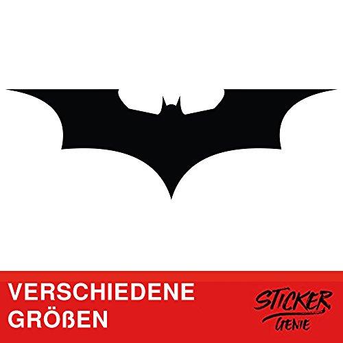 Batman Auto Sticker Aufkleber Dark Knight Gotham Arkham Logo Autoaufkleber (20cm B x 6,6cm H XS, Schwarz)