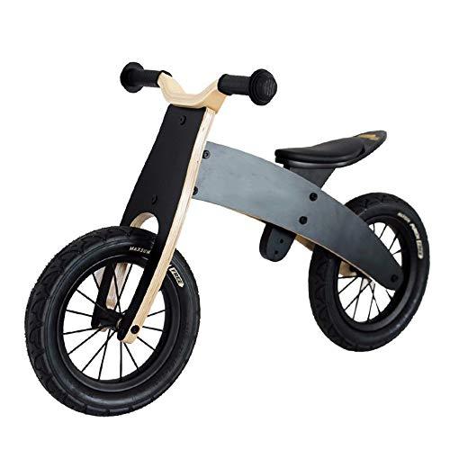 YumEIGE Loopfiets, geschikt voor kinderen van 2 tot 6 jaar, met Eva-loopfiets, licht, in hoogte verstelbaar 12,9-17,7 inch, kinderloopwielen, 3 kleuren zwart