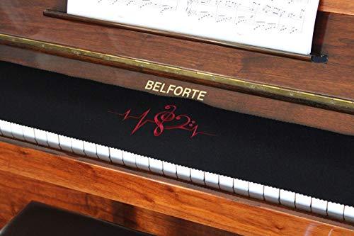 Klavierläufer Tastenläufer Tastaturabdeckung für Klavier Tastendecke bestickt 100% Wolle Schwarz 010