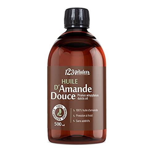 Huile d'Amande Douce - 500ml - Pression à froid -...
