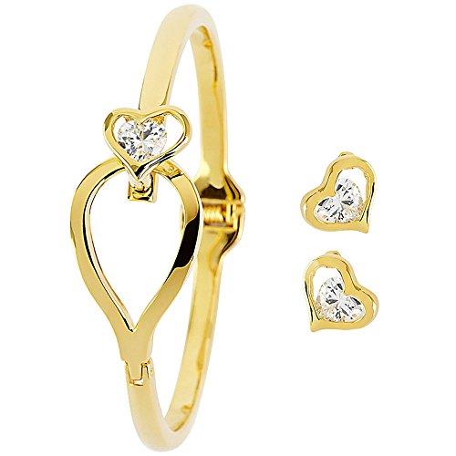 Pierre Cardin Bracelet Jewelery Set Ladies Gold