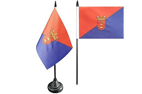 Flaggenfritze–Bandera de mesa bandera España Lanzarote–10x 15cm