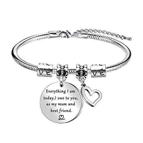Women Bracelet 925 Silver Love Heart Bracelet Interlocking Heart Bracelets for Women Jewellery Gift