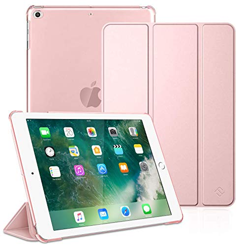 FINTIE Case for iPad 9.7 2018/2017, iPad Air 2, iPad Air - Lightweight Slim Shell Cover with Translucent Frosted Back Protector, Auto Wake/Sleep for iPad 6th / 5th Gen, iPad Air 1/2, Rose Gold