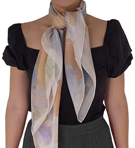 Fular de seda para mujer - talla única 90x90 estilo cuadrado todas las estaciones - Mantón de mujer Elegante Bufanda de Pashmina Mujer Invierno