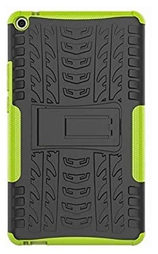 Accesorios de pestañas para Huawei MediaPad T3 8.0 T3-8 KOB-L09 KOB-W09, Silicone TPU + PC Funda de Tableta de Tapa de Stands a Prueba de Golpes para Huawei MediaPAD T3 8.0 (Color : Green)