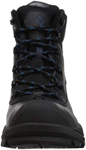 Columbia Men's Bugaboot Plus IV Omni-Heat Snow Boot, Black, Phoenix Blue, 9