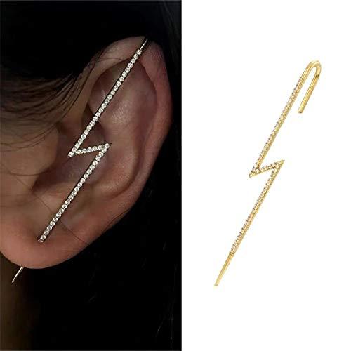Ear Wrap Crawler Hook Orecchini, Pin Vine Wrap Stud, Beauty Stud Cuff Orecchino per ragazze donne (E)