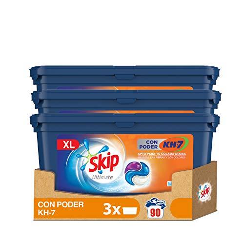 Skip Ultimate Detergente Capsulas 3en1 CON PODER KH7 30lav - Pack de 3