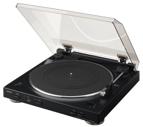 Denon DP 200 USB Vollautomatischer Plattenspieler (MM-System, Phono-Equalizer, PC-Software, USB-Anschluss) schwarz