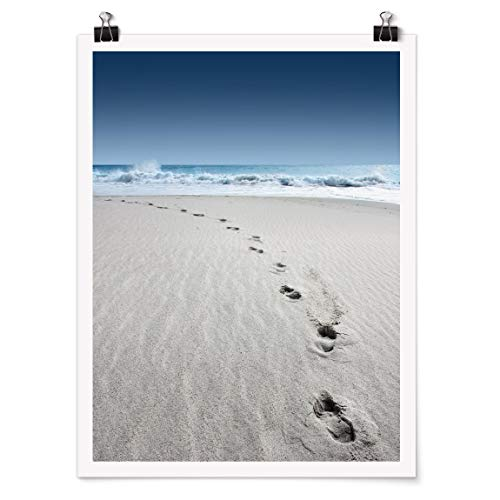 Bilderwelten Poster Wanddekoration Spuren im Sand Selbstklebend seidenmatt 60 x 45cm