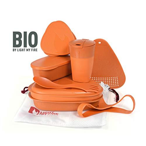 Light My Fire - Juego de 8 recipientes de comida para camping con taza, cuenco, plato, cuchara y almacenamiento