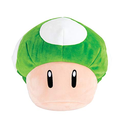 Club Mocchi Mocchi Mario Kart 1-Up Mushroom Plush Stuffed Toy | Super Soft | Great for Kids & Collectors