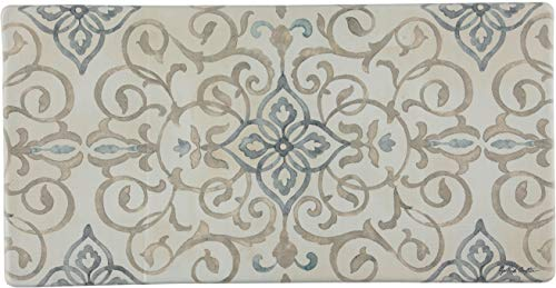 Oversized 20'x39' Anti-Fatigue Embossed Floor Mat (RUSTIC MEDALLION CREAM)