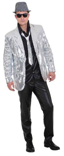 Preisvergleich Produktbild Pailletten Show Jacket silber,  Erwachsenen-Größe:56 / 58
