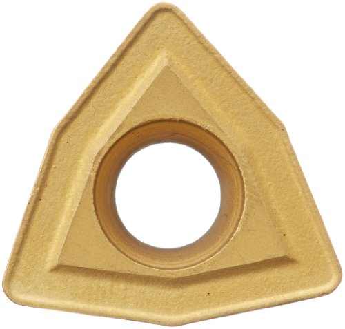 """Cobra Carbide 44592 Solid Carbide Turning Insert, CM14 Grade, Multilayer Coated, WCMT Style, CF Chipbreaker, WCMT 32.52, 5/32"""" Thick, 1/32"""" Radius (Pack of 10)"""