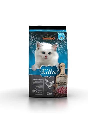 Leonardo Kitten [2kg] Kittenfutter   Trockenfutter für Kitten   Alleinfuttermittel für Kitten bis zu 1 Jahr