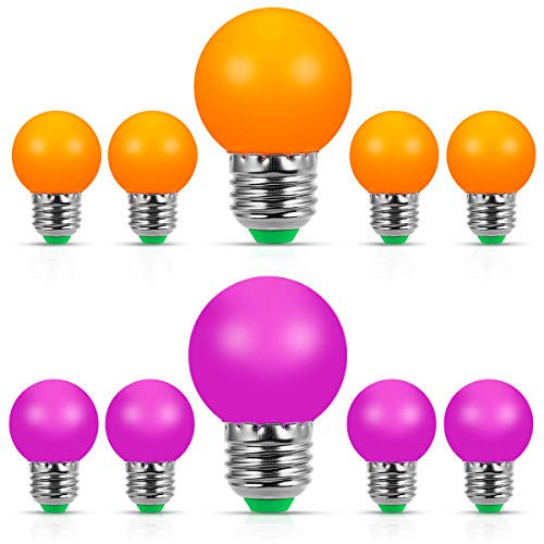 Teelichter in Kürbisform, mit LED-Leuchtmittel, E27, Orange Farbige Kugellichter
