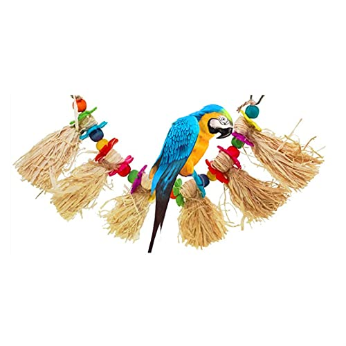 ZTTT Juguetes de Aves para Loros Grises africanos y Accesorios de Jaula de Mascotas Cockatiel Perch Budgie Parakeet Decoración Juite Oiseaux Bird Toy