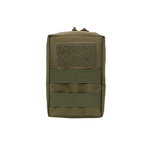 WINOMO Sac à Bandoulière Polyvalent pour Téléphone poche étanche pour Extérieur (vert de l'armée)