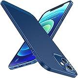 Humixx Dünn Hülle Kompatibel mit iPhone 12 Hülle | iPhone 12 Pro Hülle Ultra Slim Hülle Leicht Anti-Fingerabdrucke Anti-Kratzer Matte Handyhülle-Blau