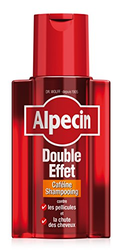Alpecin Double Effet 1 x 200 ml Shampoing homme antipelliculaire | Shampoing anti chute de cheveux homme | Shampoing cheveux gras | Cheveux traitement calvitie