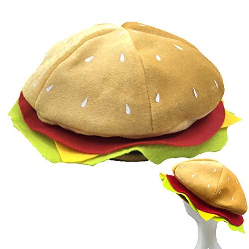 Hinder Disfraz de hamburguesa con forma de hamburguesa y queso, ideal para fiestas de Navidad y fiestas de Navidad
