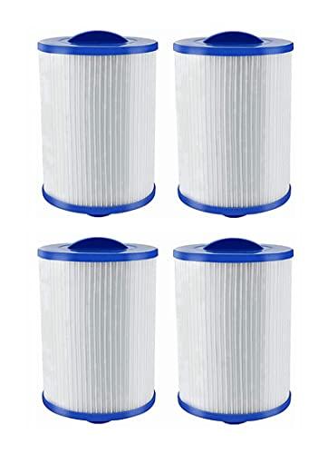 Kseyic Ersatzkartuschen für Whirlpool-Filter,für Unicel 6CH-940 für Pleatco PWW50 Whirlpool-Filter, kompatibel,Filterkartuschen für Jacuzzi Ersatz Filter (4 Stück)