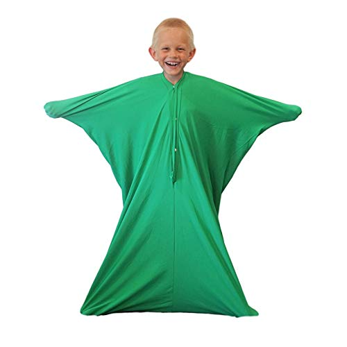 Sensory Sack (Medium), Body Sock, Calming Therapy Blanket, Sensory Toys Stress Relief, Anxiety, Autism, ADHD, ADD, Tactile Items for Therapeutic Play, Kids Fidget Toy, Body Pod in Green - Sensory4U