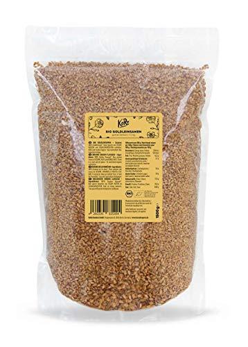 KoRo - Bio Goldleinsamen 1,5 kg - Leinsamen in gold - Naturbelassen und rein pflanzlich - Hervorragend im Müsli oder Brot
