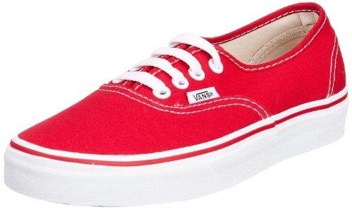 Vans Authentic Unisex Skate Trainers Shoes Red 11 B(M) US Women / 9.5 D(M) US Men