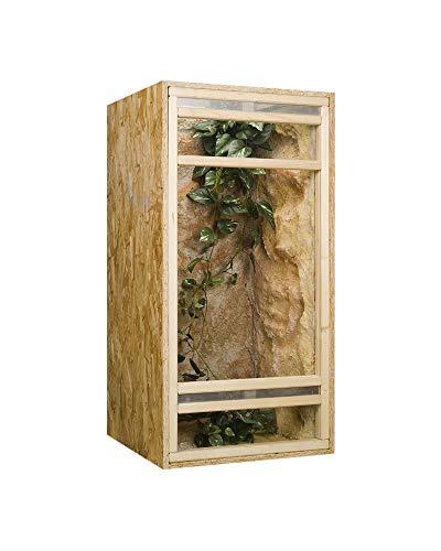 Holzkonzept Hochterrarium aus Holz, 60x60x150 cm