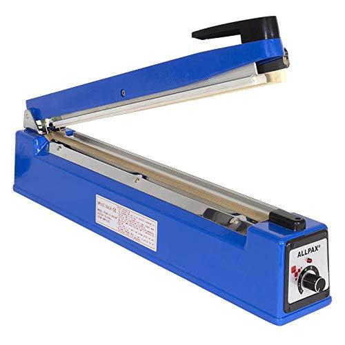 Allpax Tischschweißgerät 400 mm mit Messer - Folienschweißgerät - Balkenschweißgerät - Einschweißgerät mit Schneidwerk - Siegelmaschine