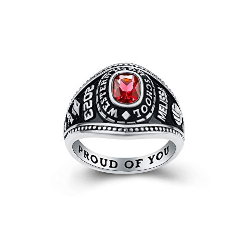 Women's High School Class Ring – Classic Petite Collection – Fully Personalized