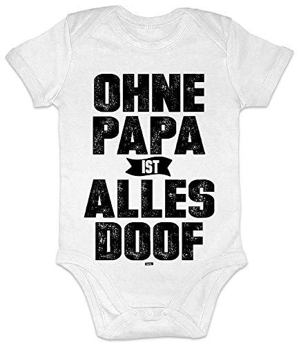 Hariz - Body de manga corta para bebé con texto en alemán 'Ohne Papa ist alles Doof', regalo de Navidad, tarjetas de regalo de Navidad y tarjetas de regalo de inocencia, color blanco 0 – 3 meses