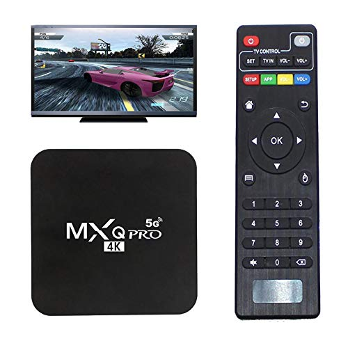 MXQ Pro 5G Android 10.0 TV-Box, Mit Air-Maus-Gyroskop 4 GB + 32 GB Android Smart Box Dual Band WiFi Quad Core Home Media Player