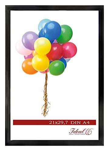 Ideal Trend Home Lifestyle Kunststoff Bilderrahmen 10x15 cm bis 50x70 cm Foto Rahmen: Farbe: Schwarz | Format: 40x60