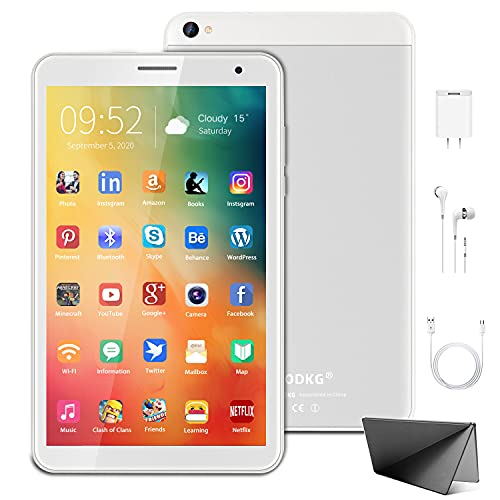 Tablet 8 Pollici, Android 10.0 Google Certificazione GMS 3GB RAM+32 128GB ROM, Tablet con Fotocamera da 5MP 1280 * 800 IPS, Quad-Core 1.6Ghz GPS, Bluetooth, Wi-Fi (Argento)